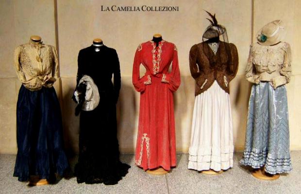 vestiti secolo 800 - collezione privata - la camelia collezioni