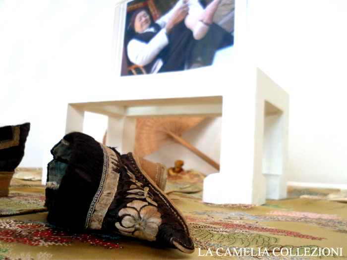 calzature e scarpe d'epoca - tacchi proibiti - scarpina cinese - la camelia collezioni