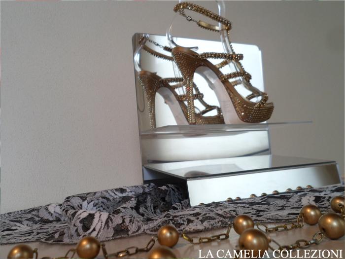 calzature e scarpe d'epoca - tacchi proibiti - tacchi strass macramè - la camelia collezioni