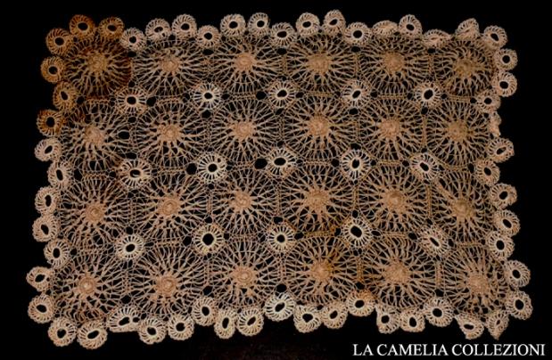 centro rettangolare punto tenerife secolo 800 - cm 20 x 35 - la camelia collezioni