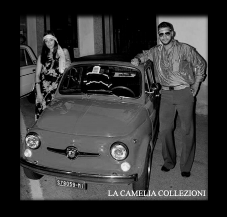 FIAT 500 ABARTH DEL 1970 - vestiti e accessori per raduni auto e moto d'epoca - la camelia collezioni