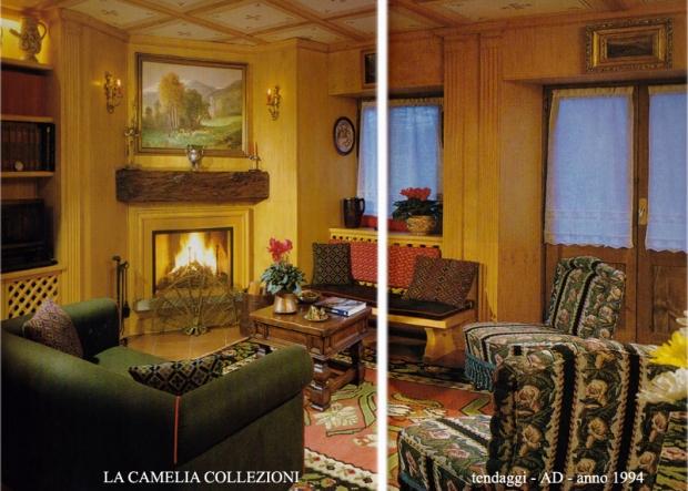 tende in lino - tende  a vetro - tende per chalet montagna- AD - anno 1994 - la camelia collezioni