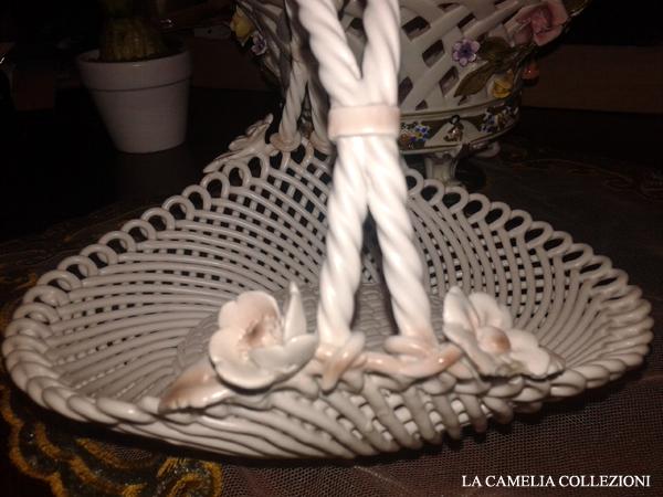 ceramica bassano - cestitno con manico - la camelia collezioni