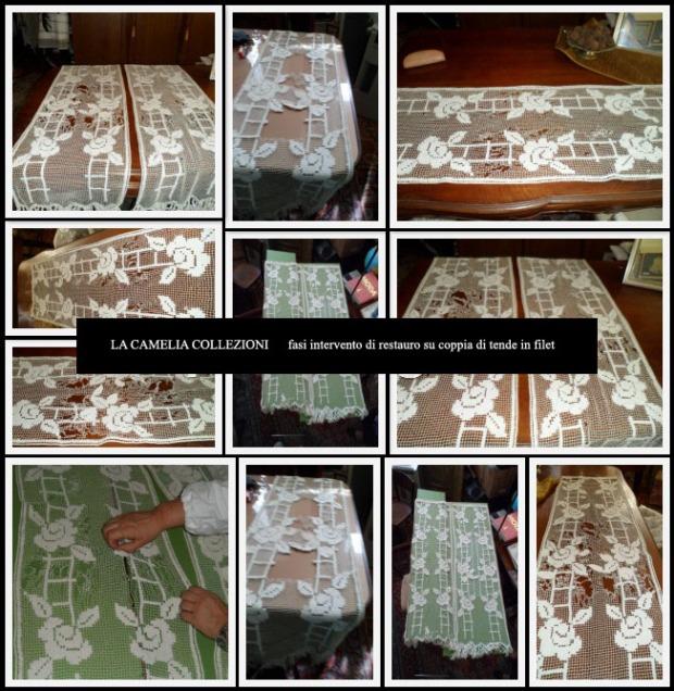 restauro coppia d tende in filet- la camelia collezioni