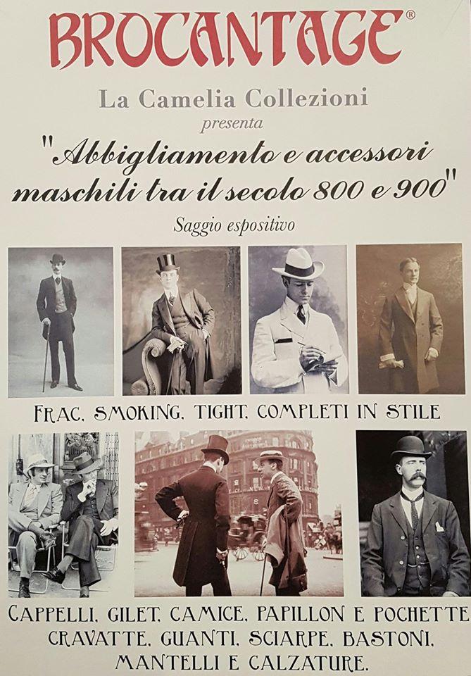locandina esposizione abiti e accessori maschili - marzo 2017 - la camelia collezioni