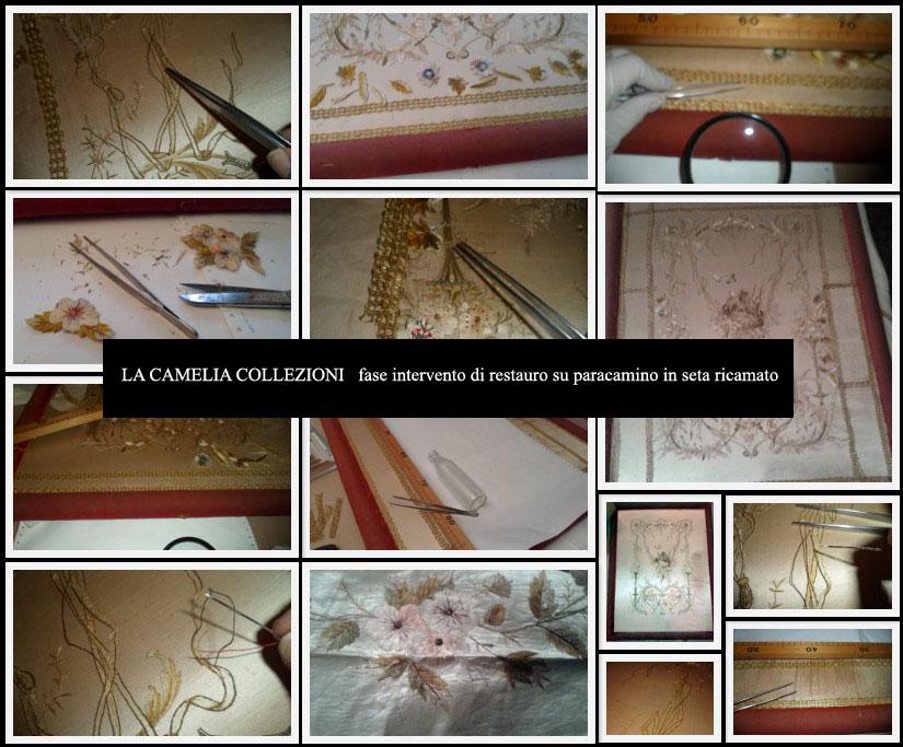 restauro-paracamino-in-seta-con-ricami-e-cornice-in-velluto-la-camelia-collezioni