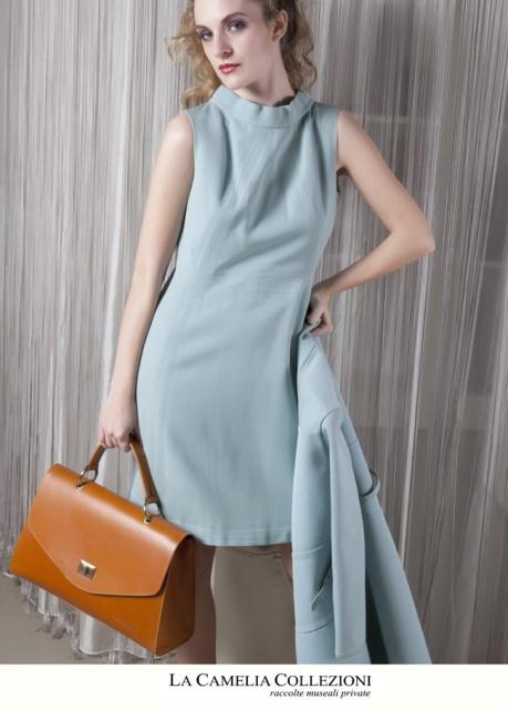 robe manteu azzurro cielo autentico anni 60 - la camelia collezioni