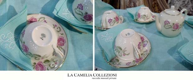 servizio da the in porcellana ginori da 12 - la camelia collezioni