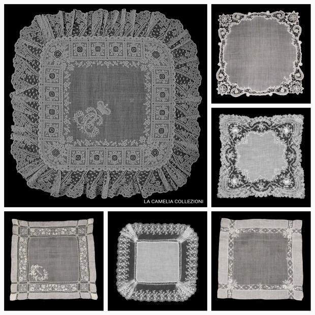 Fazzoletti ricamati - collezione di fazzoletti- collection of handkerchiefs la camelia collezioni