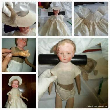 restauro bambole - restauro abitini bambole - la camelia collezioni