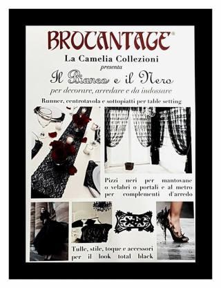 allestimenti a tema bianco e nero - locandina - la camelia collezioni - fiero brocantage - edizione ottobre 2017