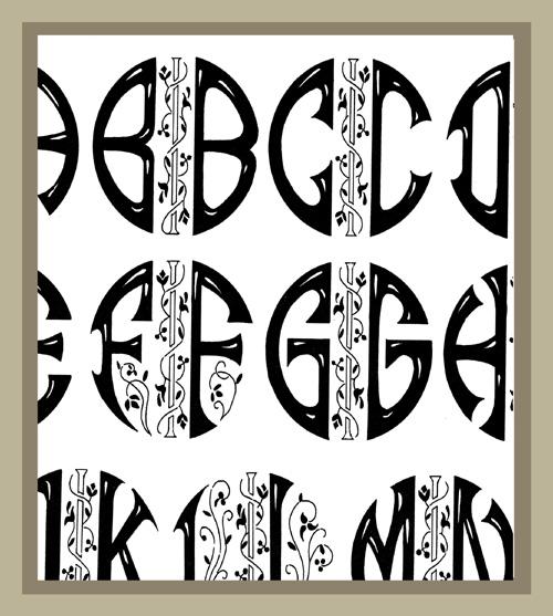 cifre e schemi ricamo -codice DECO' - la camelia collezioni