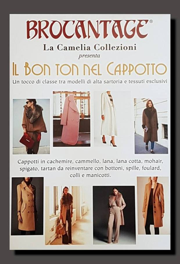 brocantage - edizione novembre 2017 - il bon ton nel cappotto - la camelia collezioni