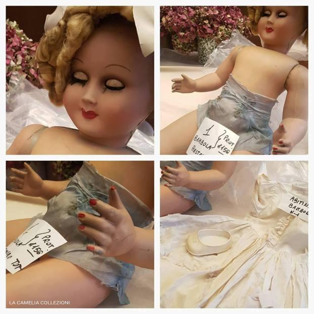 restauro conservativo bambole d'epoca - la camelia collezioni