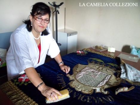restauro gonfalone città di vigevano - la camelia collezioni