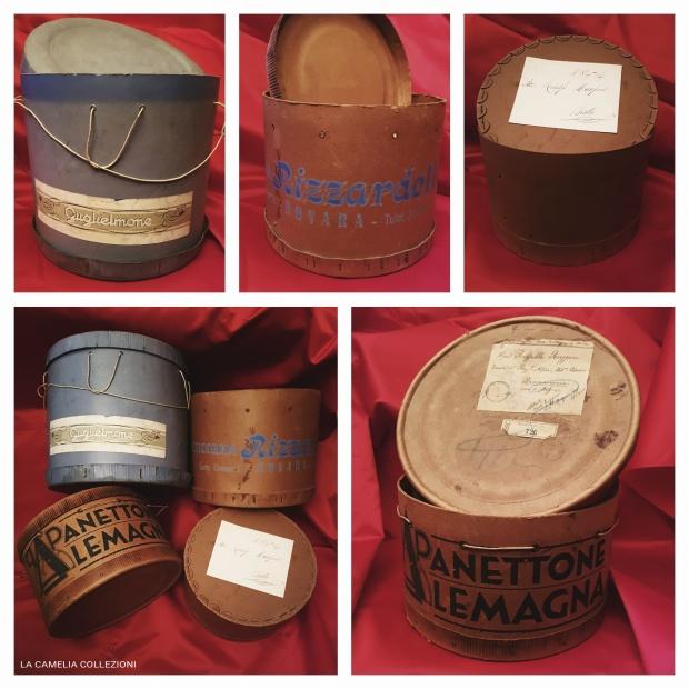 panettoni anni 50 - collezione scatole panettoni d'epoca - la camelia collezioni