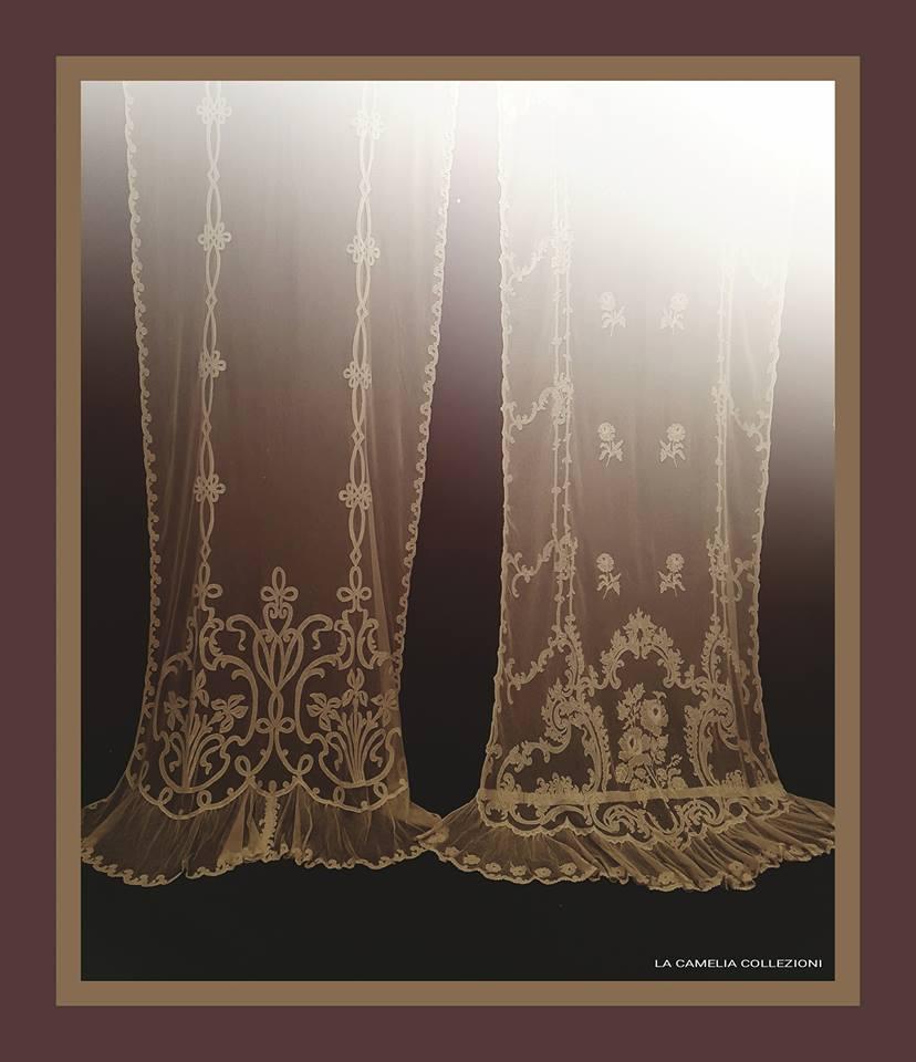 tende in tulle napoleone III colore panna h. 370 cm - la camelia collezioni