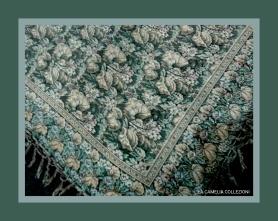 Tessuti d epoca fiorati verde - la camelia