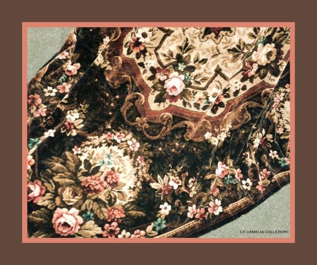 Tessuti arredo anni 50 - velluto e seta fiorato - la camelia collezioni