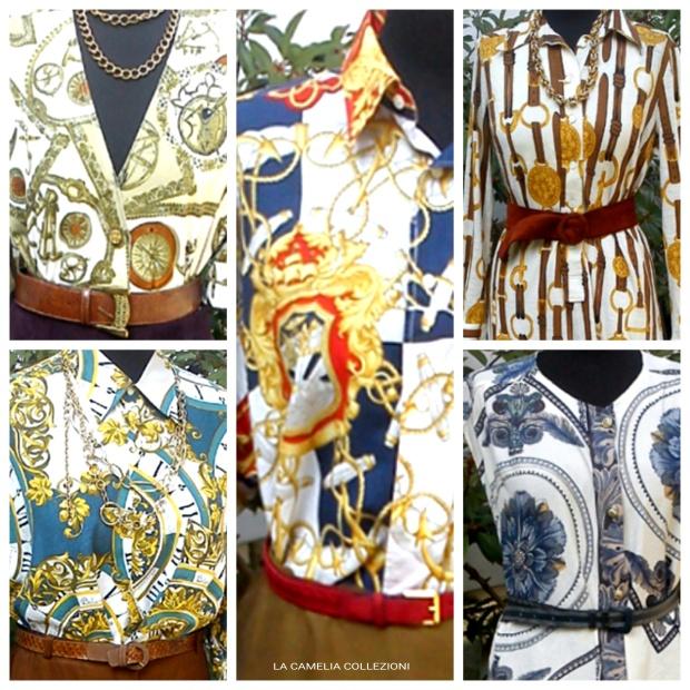 Vestiti stravaganti-vestiti con stampe geometriche-stile hermes- la camelia collezioni