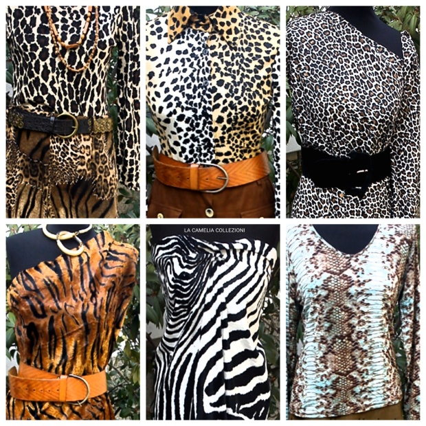 Vestiti animalier-maculati-zebrati-tigrati-la camelia collezioni