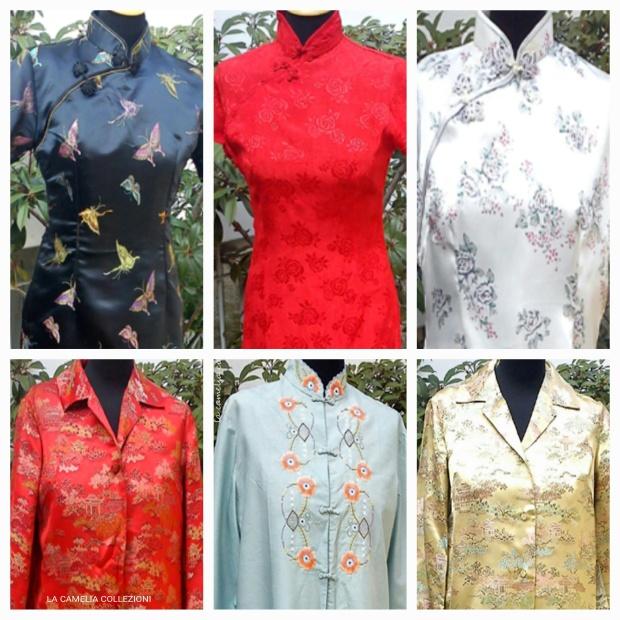 Vestiti stile oriente - Cheongsam- la camelia collezioni