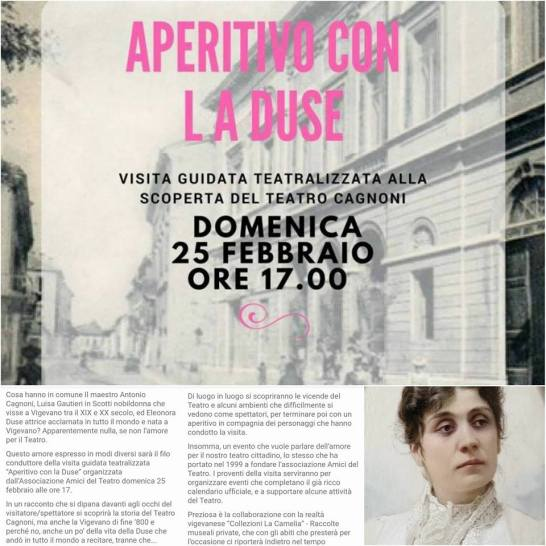 eleonora duse - evento - teatro cagnoni - vigevano - la camelia collezioni