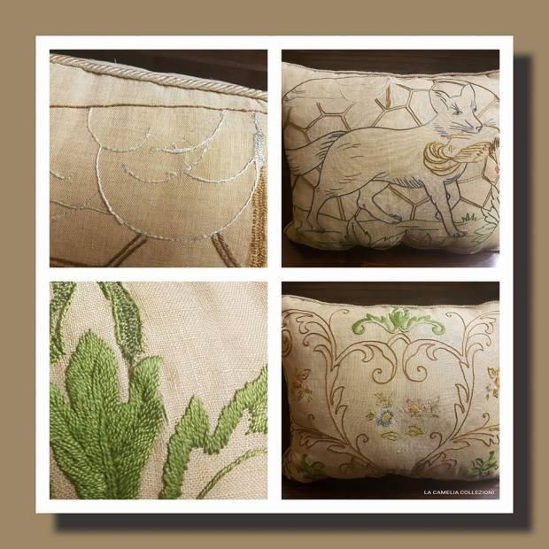 restauro cuscini liberty - la camelia collezioni