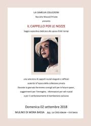 il cappello per le nozze - museo leonardo mora bassa - settembre 2018