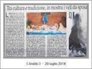 rassegna stampa luglio 2018 - mostra veli sposa - la camelia collezioni