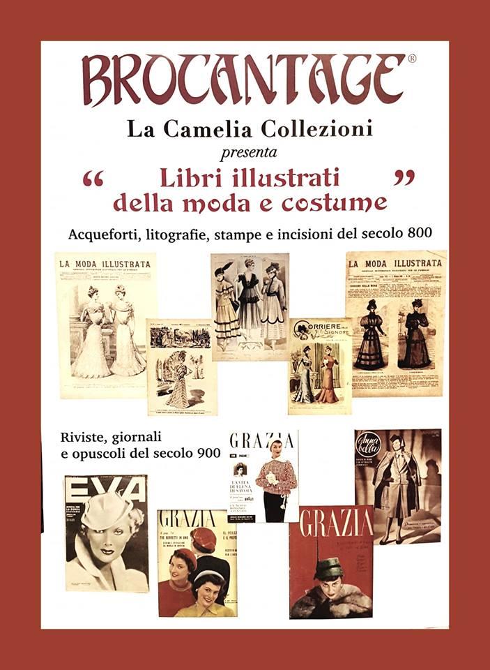 brocantage - area tematica ottobre 2018 - libri illustrati della moda - la camelia collezioni
