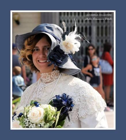 vestiti per rievocazioni storiche - primi 900 in blu - la camelia collezioni