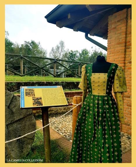 vestiti storici - verde e ocra - la camelia collezioni