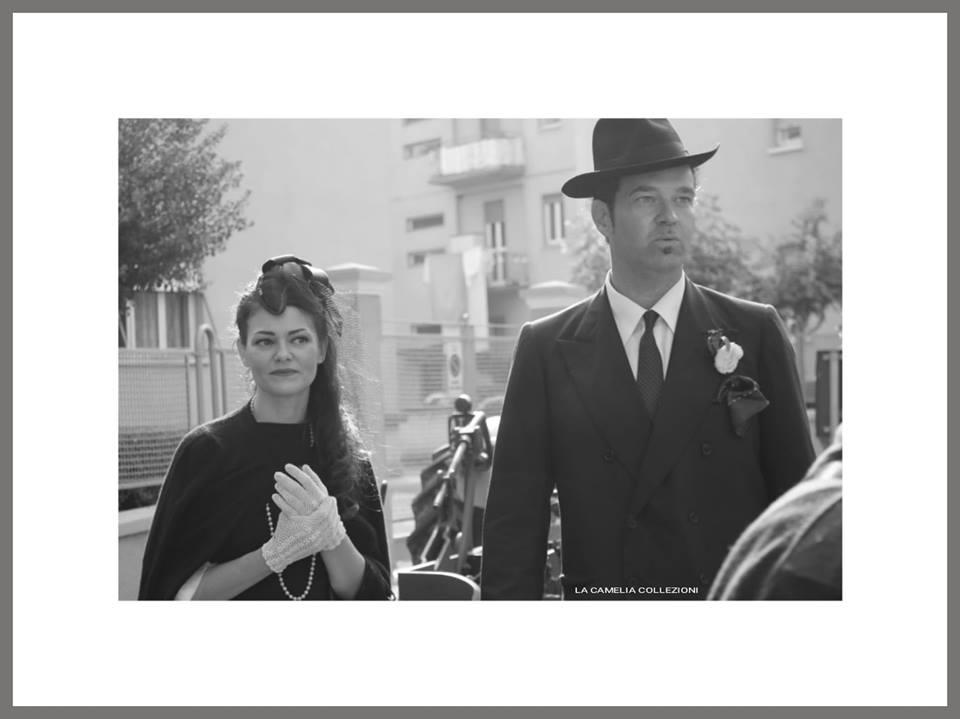 vestiti uomo per rievocazioni e feste a tema - anni 50 con cappello borsalino