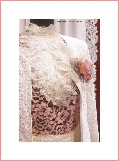 belle epoque - abito rosa e panna - la camelia collezioni