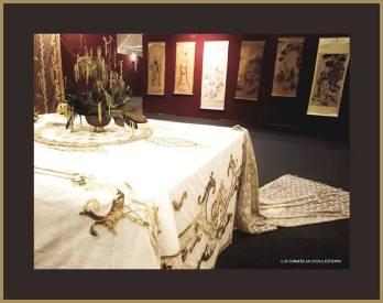 tovaglia in tulle oro - la camelia collezioni