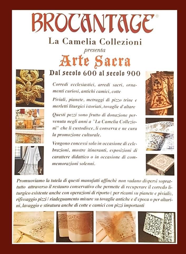 arte sacra - locandina brocantage febbraio 2019 - la camelia collezioni