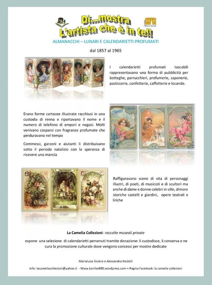 calendarietti profumati - biblioteca mastronardi - locandina dicembre 2018 - la camelia collezioni