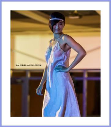 intimo e lingerie in sfilata - lilla di raso - la camelia collezioni