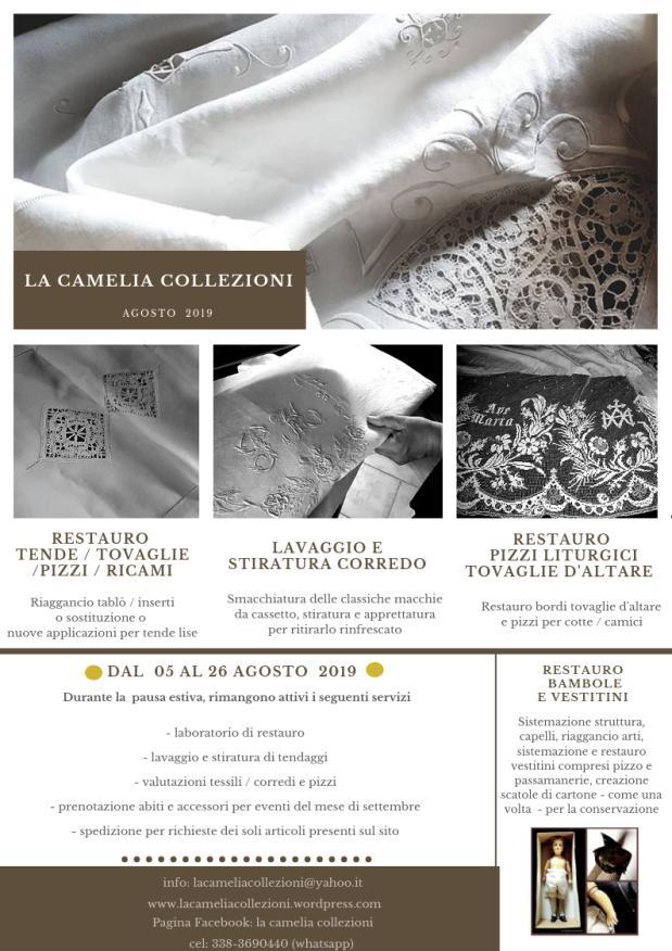 newsletter agosto 2019 - la camelia collezioni