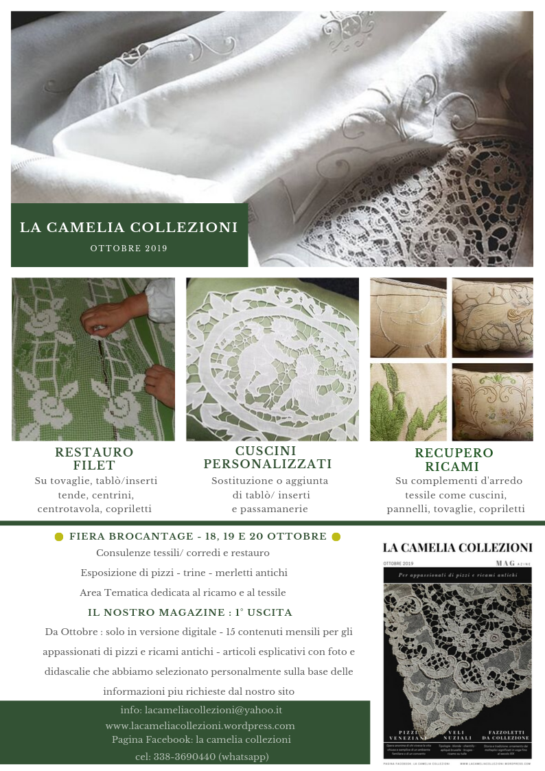 Newsletter ottobre 2019 - la camelia collezioni