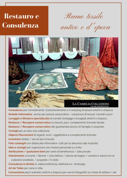 tessile antico e d'epoca - la camelia collezioni