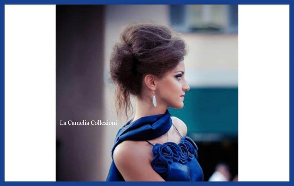 vestiti party cerimonia - Abito lungo blu effe