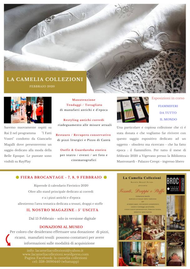newsletter febbraio 2020 - la camelia collezioni