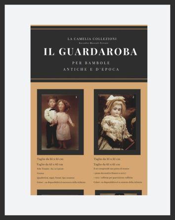 Il guardaroba per bambole antiche e d'epoca - copertina catalogo - la camelia collezioni