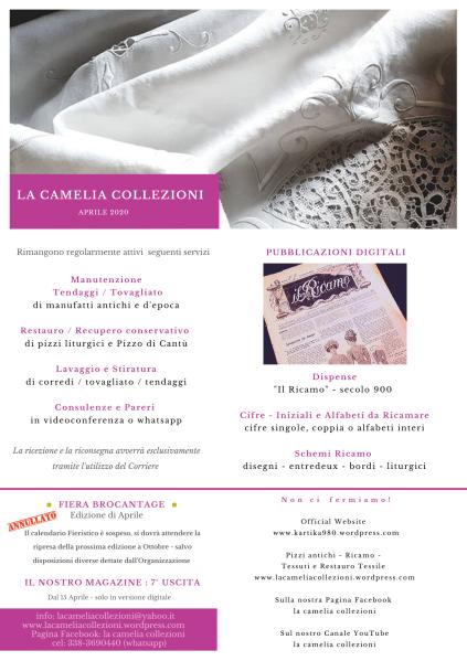 Newsletter Aprile 2020 - la camelia collezioni