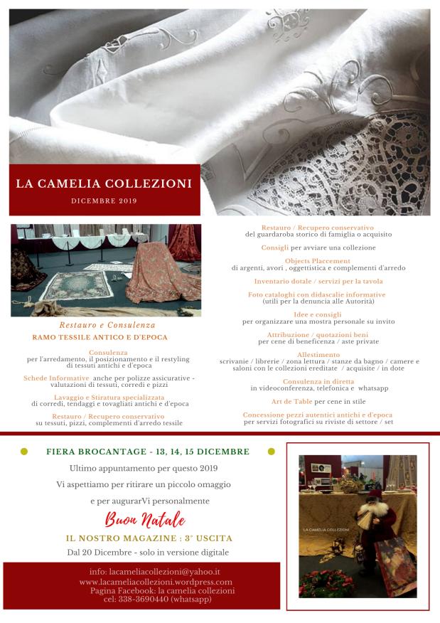 newsletter dicembre 2019 - la camelia collezioni