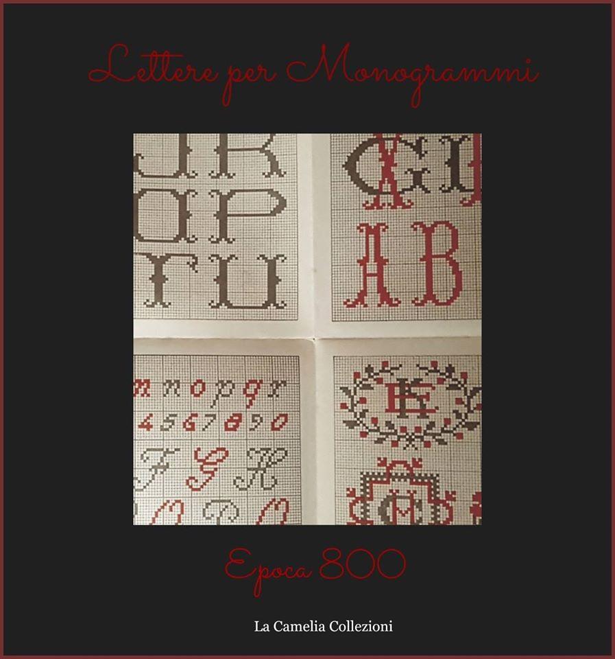 schemi ricamo - lettere per monogrammi secolo 800 - la camelia collezioni