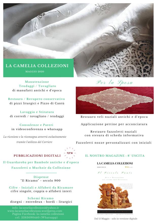 newsletter maggio 2020 - la camelia collezioni