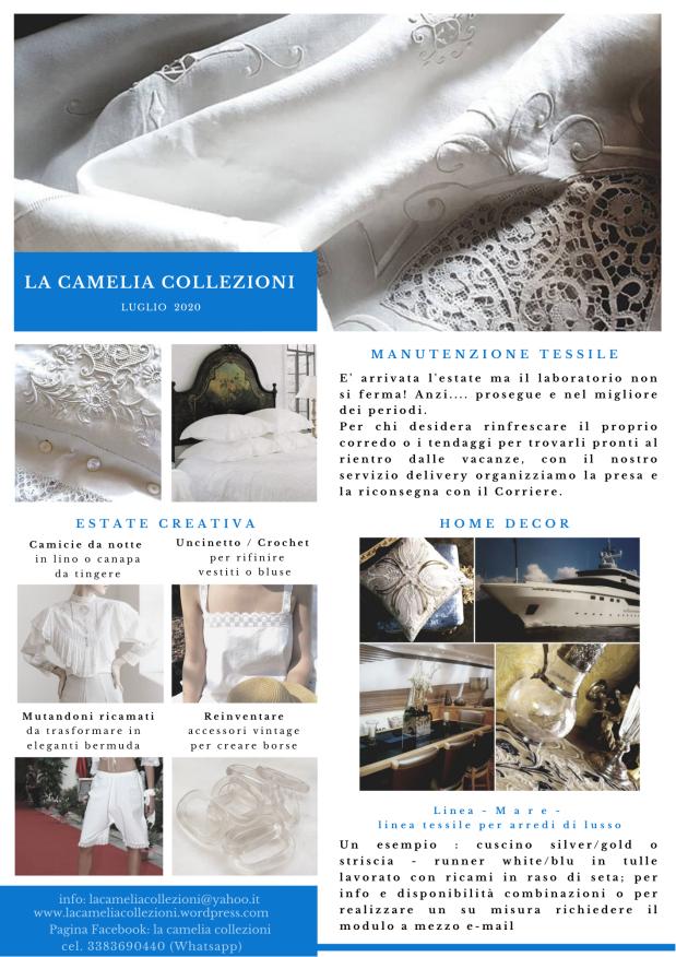 Newsletter - Luglio 2020 - la camelia collezioni